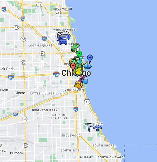 Down Town Chicago Map Chicago Downtown Hotels Map on