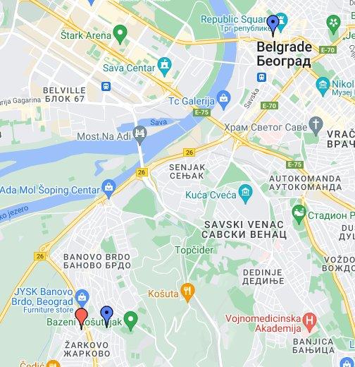 besplatna mapa beograda Besplatna Mapa Beograda   Google My Maps besplatna mapa beograda