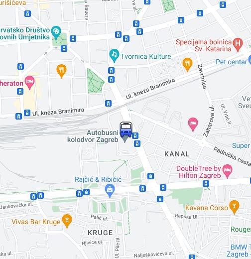 Autobusni Kolodvor Zagreb Google My Maps