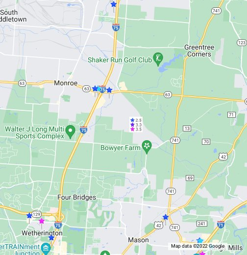 geneva ohio map Monroe OH Hotels Map   Cheap Rates, Hotel Reviews, Discount Deals