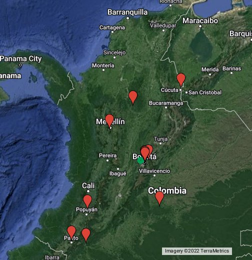Colombia - Google My Maps