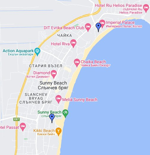map of bulgaria sunny beach Hotel Pliska Sunny Beach Resort Bulgaria Google My Maps map of bulgaria sunny beach