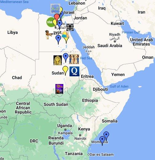 Ancient Egypt - Map of egypt google maps