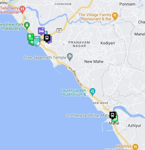 My Kerala Map – Gmaps Satellite
