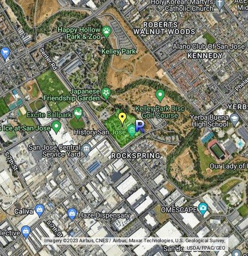 San Jose History Park - Google My Maps Dmv Google Maps on