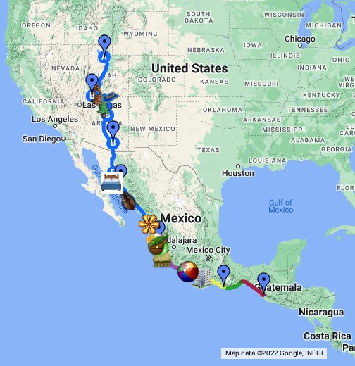 Crossing Borders- Road Trip to Costa Rica- Detailed - Google ...