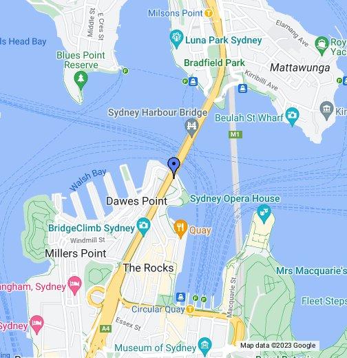 Map Of Sydney Harbour Sydney Harbour Bridge   Google My Maps