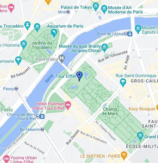 Karte Paris Eiffelturm.Eiffel Tower Google My Maps