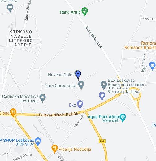 rabrovo srbija mapa Nevena Color   Google My Maps rabrovo srbija mapa
