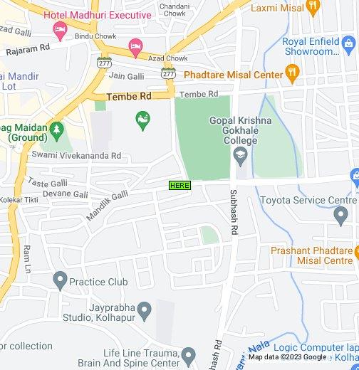 Map Of Kolhapur Maharashtra India Google My Maps