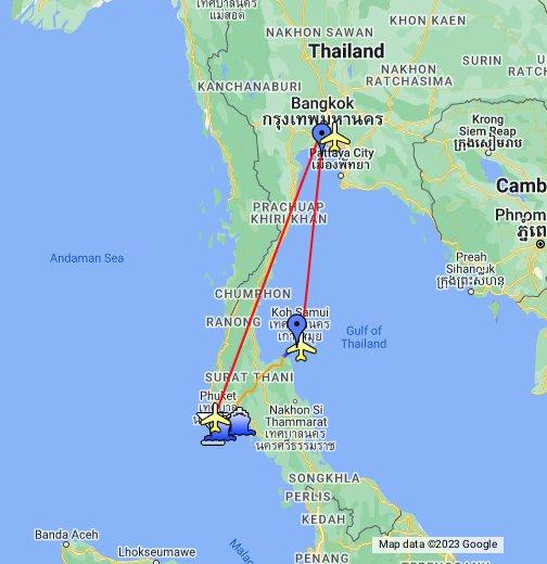 Thailand - Google My Maps