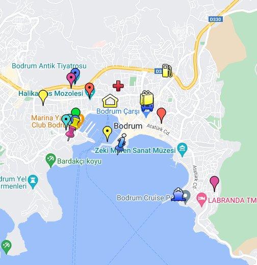 Bodrum Karte.Bodrum Turkey Google My Maps