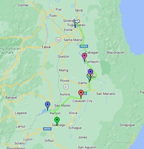 Isabela Map Philippines Isabela Province Roadtrip 2012   Google My Maps