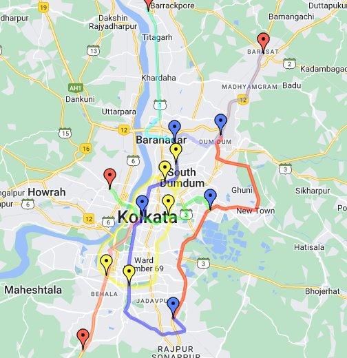 Kolkata Metro - Google My Maps