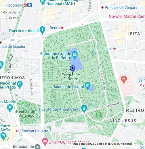 Mapa Parque Del Retiro.Parque Del Retiro Google My Maps