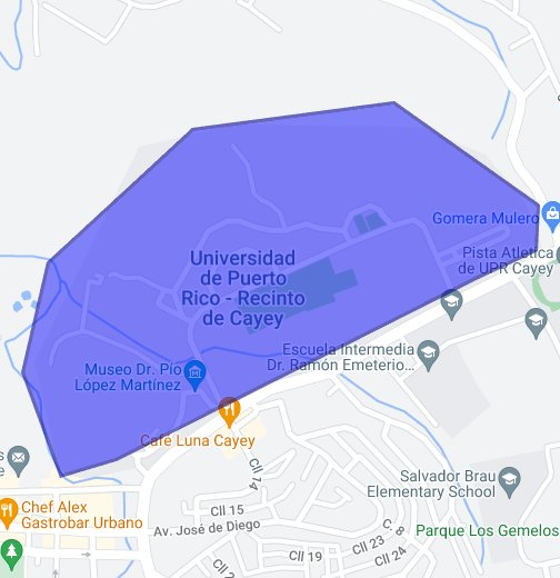 Universidad De Puerto Rico Cayey Google My Maps