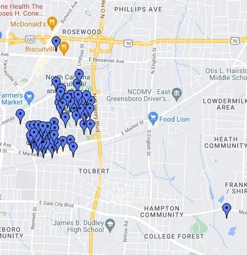 N.C. A&T Campus - Google My Maps