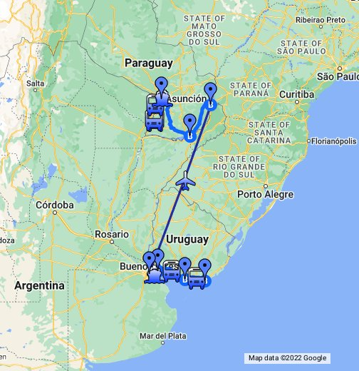 Paraguay Argentina E Uruguay - Argentina map google