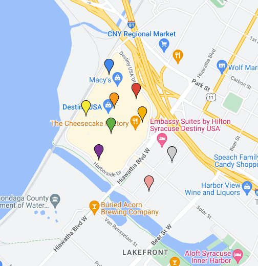 Destiny Usa Map Of Stores.Destiny Usa Parking Map Google My Maps
