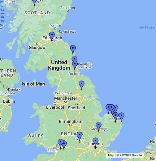 mapa inglaterra Turismo Norwich   Norfolk   Inglaterra   Reino unido   Google My Maps