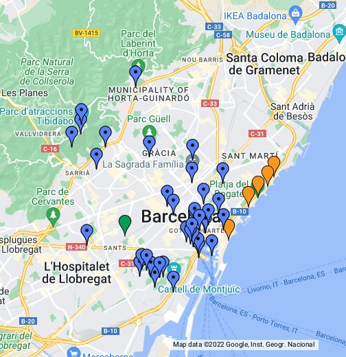 barcelona térkép Barcelona térkép, látnivalók   Google My Maps