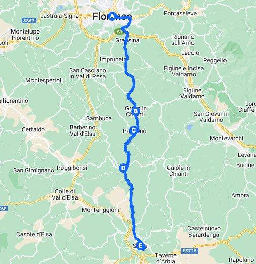 Via Chiantigiana, scenic drive through Chianti, suggested route by ...