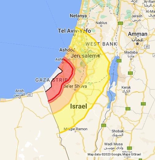 GazaMissiles - Google My Maps