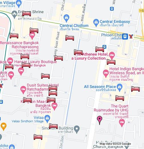 Hotels Near US Embassy In Bangkok - Us embassy bangkok map