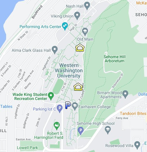 BAGS, Western Washington University - Google My Maps