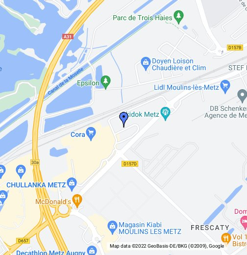 Carte Cora Moulins Les Metz.Odyssee Fitness Squash Metz Augny Google My Maps