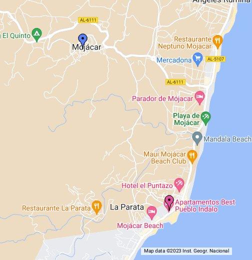 Mojacar Spain Map.Pueblo Indalo Google My Maps