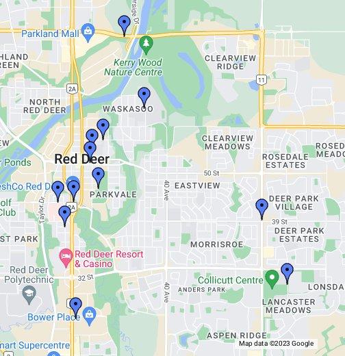Red Deer Alberta Canada Map Red Deer, AB   Google My Maps
