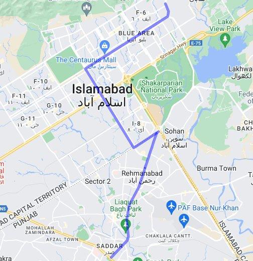 Rawalpindi-Islamabad Metrobus - Google My Maps