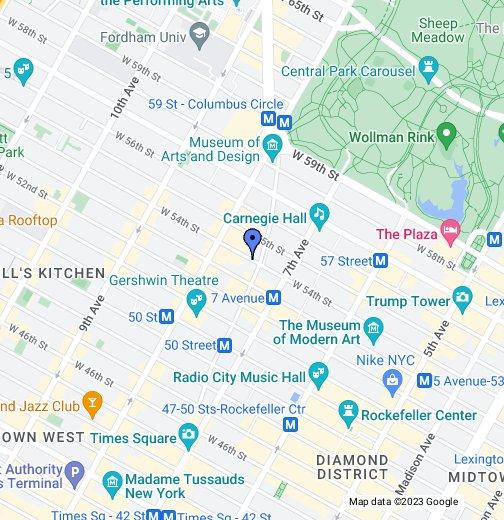 Map Of New York Rockefeller Center.Ameritania Hotel Google My Maps