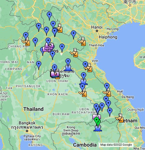 Lao PDR - Google My Maps