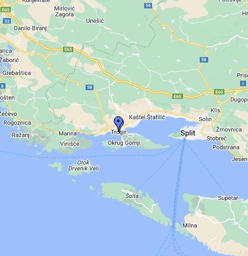 Trogir Google My Maps