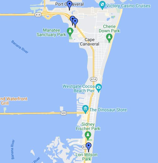 Port Canaveral Florida Map Port Canaveral cruise port   Google My Maps