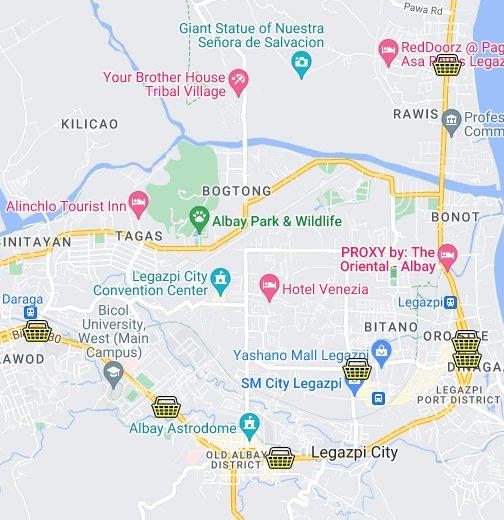LCC In Legazpi - Legazpi city map