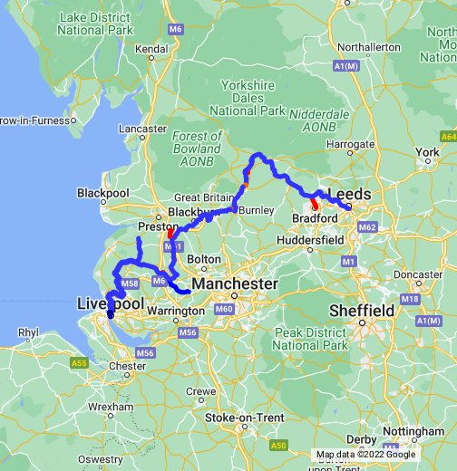 Leeds Liverpool Canal Map Leeds & Liverpool Canal: Route Map – Google My Maps