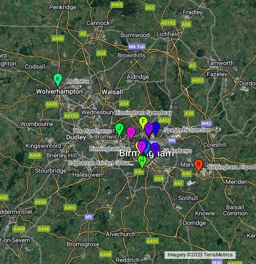 Birmingham Karte.Birmingham Google My Maps