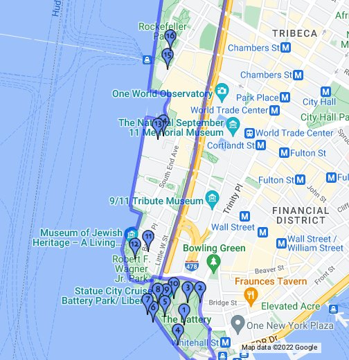 New York City Sights: Battery Park and Battery Park City   Google