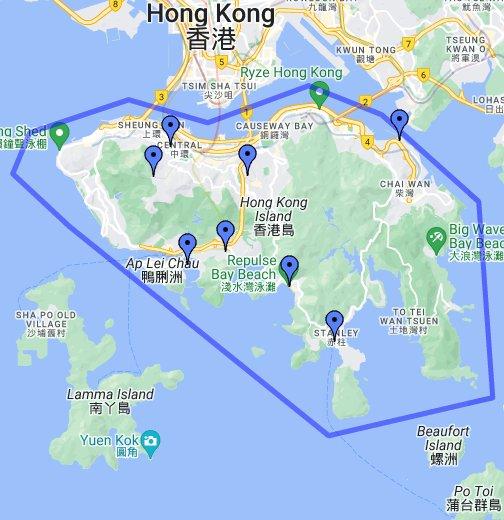 Hong kong tourist attractions map hong kong island google my maps gumiabroncs Gallery