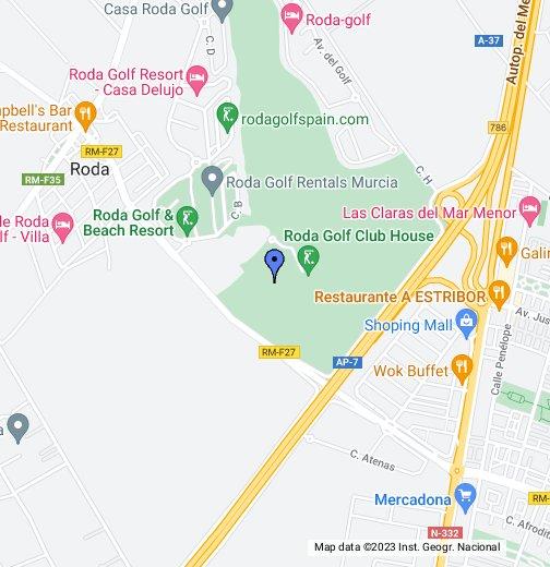 Roda Golf And Beach Resort Google My Maps