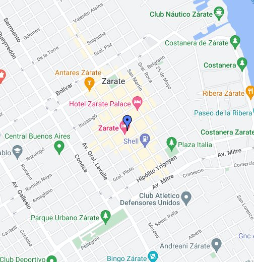 Zarate Buenos Aires - Zarate argentina map