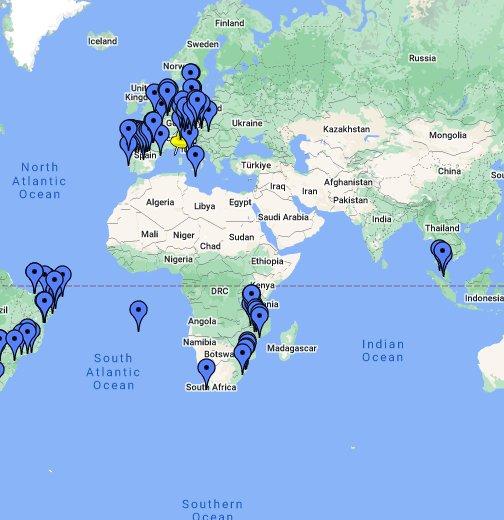 Cartina Mondo Google Maps.Dove Sono Stato Nel Mondo Google My Maps