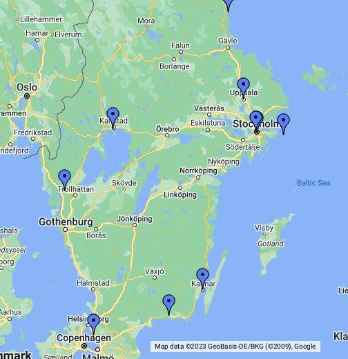 WhereDunnits Stieg Larsson Map - Sweden map hedestad