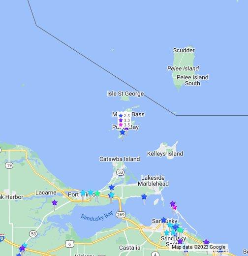 geneva ohio map Put In Bay OH Hotels Map plus Condos, & Resorts in Ohio   Cheap