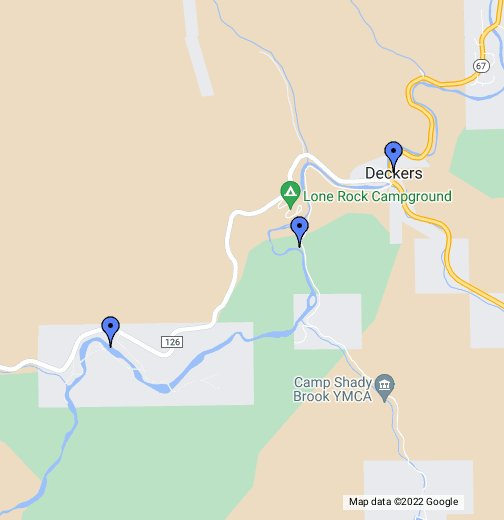 Deckers Colorado Map.Fly Fishing In Deckers Colorado Google My Maps