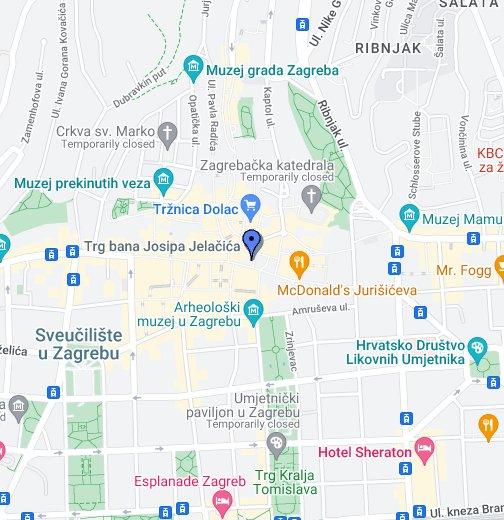 Grad Zagreb Trg Bana Josipa Jelacica Google My Maps