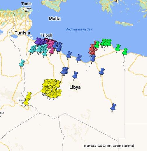 Hatif Libya Google My Maps